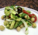 Avocado Salad with Chickpeas & Tomatoes