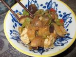 Sweet and Spicy Chinese Eggplant (with Chicken)