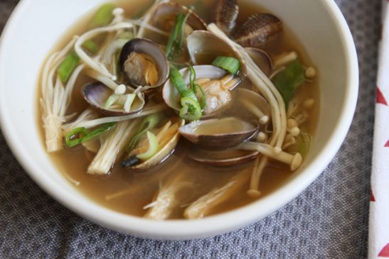 Korean Miso Soup With Clams Recipe Sparkrecipes