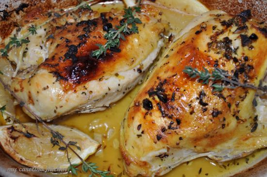Slow Cooker Lemon Chicken with Carrots