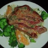 Pan-Seared Tuna with Olive-Wine Sauce for Two