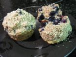 Low fat, high fiber blueberry muffins
