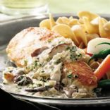 Chicken Breasts in Mushroom Cream Sauce (Modified from Eatingwell.com)