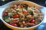 Cucumber and tomato pasta salad