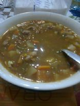 Black Lentil and Vegetable Soup