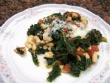 Quick Stew with Kale, Beans and Tomatoes