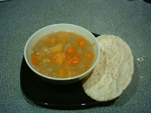 Thick Vegetable, Lentil & Split Pea Soup
