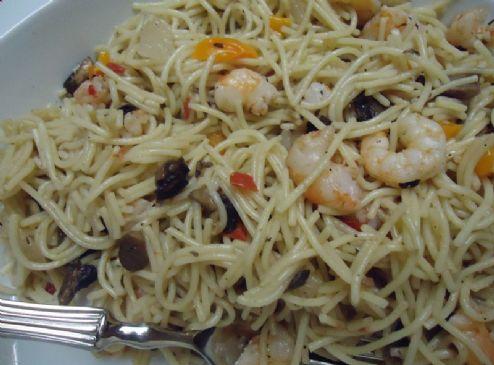 Shrimp Spaghetti w/Garlic & Lime
