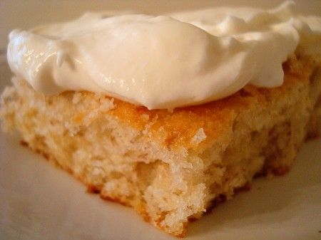 Banana Bars with Whipped Cream Cheese Frosting