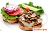 Turkey Burgers with Swiss and Garlic Mushrooms