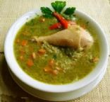 Aguadito de Pollo ( Peruvian chicken & rice soup)