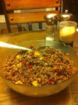 Quinoa Pomegranate and Orange Salad