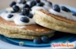Runner's Oatmeal Blueberry Pancakes