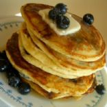 Mixed Berry Cornmeal Pancakes