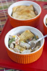 Slimmed Down Single Serve Chicken Pot Pies