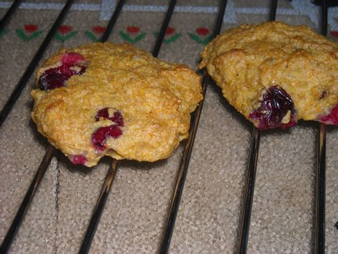 Gluten free Cranberry Orange Cornmeal Cookies