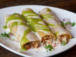 Crab Enchiladas Verdes