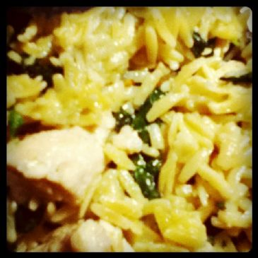 Garlic Chicken with Orzo Noodles