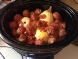 Elle's Slowcooker Spaghetti Squash & Meatballs