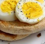 Breakfast Sandwich - Hard Boiled Egg & English Muffin (270 Cal)