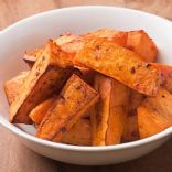 Chili Garlic Roasted Sweet Potatoes