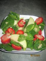 Apple Strawberry Spinach Salad w/Honey Dejon Dressing