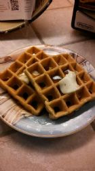 Whey Protein Waffles with Sausage-stye Spices
