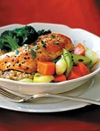 Chicken with Apple Pears