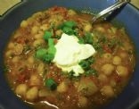 Chickpeas in Spicy Tomato Gravy