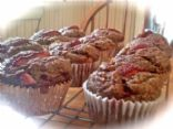 Strawberry Flax & Oat Muffins