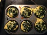 Sausage, Spinach and onion Egg Cups