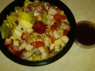 strawberry rosemary tenderloin salad