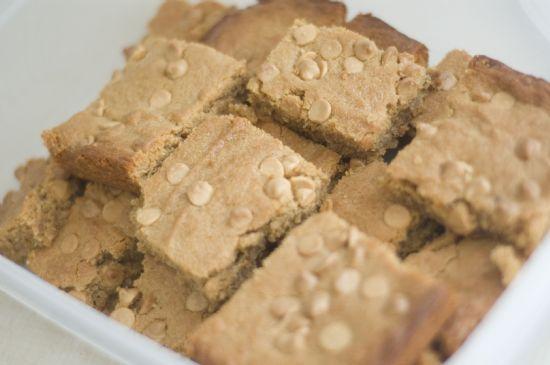 Whole Wheat Peanut Butter Blondies