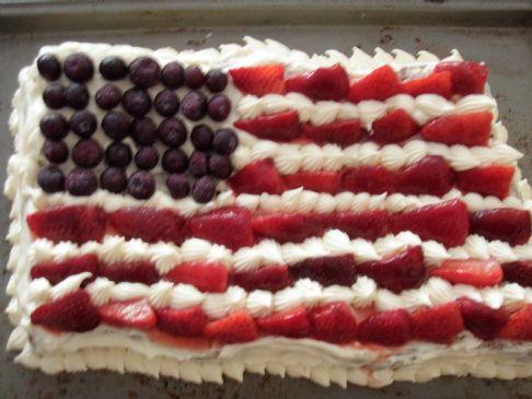 Low Carb Patriotic Cake