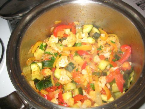 Zucchini and Cauliflower Provencal Recipe | SparkRecipes