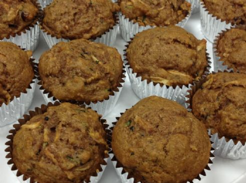 Cranberry Apple Zucchini Muffins