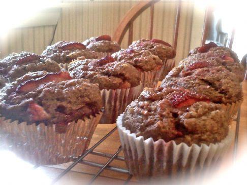 Strawberry Flax & Oat Muffins