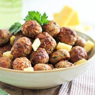 Pineapple Coconut Meatballs Recipe Sparkrecipes