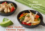 Slow Cooker Chicken Fajitas (Low-Carb)