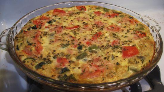 Vegetable and Ham Quiche