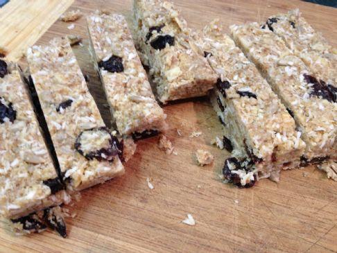 Coconut Cherry Granola Bars, Grain Free