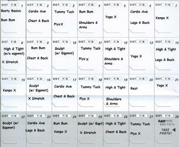 workout schedule 28 oct27 nov
