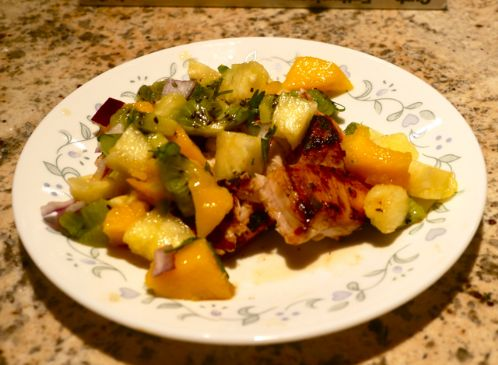 Pineapple Chicken w. Fruit Salsa