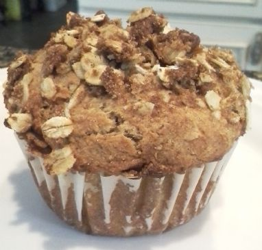 Banana Struesel Muffins (no egg, high fiber)