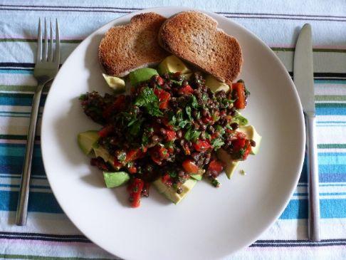 Puy Lentil salad with ginger and lime vinaigrette