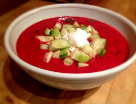 Roasted Beet & Rosemary Soup