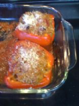Italian Stuffed Red Peppers