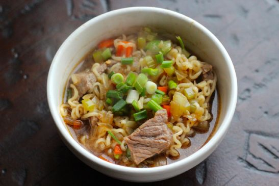 Spicy Beef and Ramen Noodle Soup
