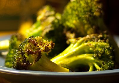 Ina's Lemon Garlic Parm Broccoli