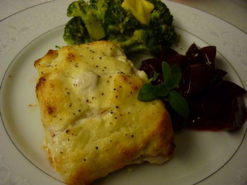 Creamy Parmesan Salmon Fillet